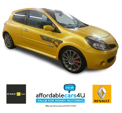 Renault Clio 2.0 16V Renaultsport 197 F1 Team 3dr**No 89 of 500** Hatchback Petrol YellowRenault Clio 2.0 16V Renaultsport 197 F1 Team 3dr**No 89 of 500** Hatchback Petrol Yellow at Affordable Cars 4 u Darlington