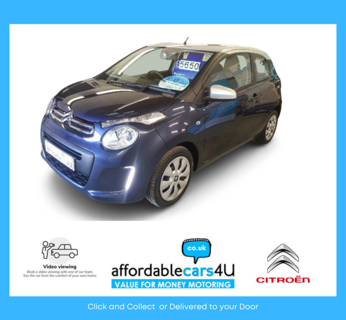 Citroen C1 1.2 Feel Puretech 3 Door**ZERO ROAD TAX**CRUISE**AIR CON**MULTI MEDIA**AIR CON**LOVELY CAR Hatchback Petrol Blue