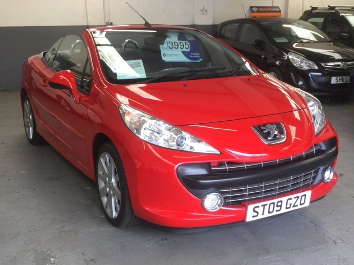 Peugeot 207 1.6 16V GT 2dr CC**LOW MILEAGE**LEATHER SEATS**AIR CON**STUNNING** Convertible Petrol Red
