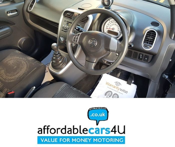 Vauxhall Agila 1.0 12V [68] ecoFLEX S 5dr**£20 ROAD TAX**APPROX 52 Mpg**1 PREVIOUS OWNER**LOW INS GROUP** Hatchback Petrol Black